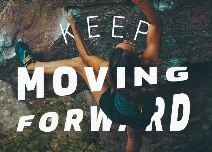 mountain-climber-woman-moving-forward