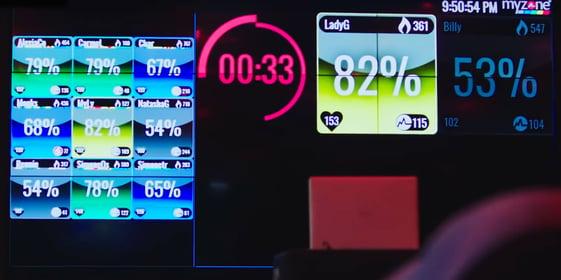 Myzone community gym screen
