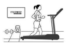 Woman running on treadmill icon